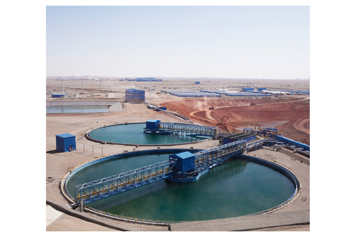 View of the open pit area.