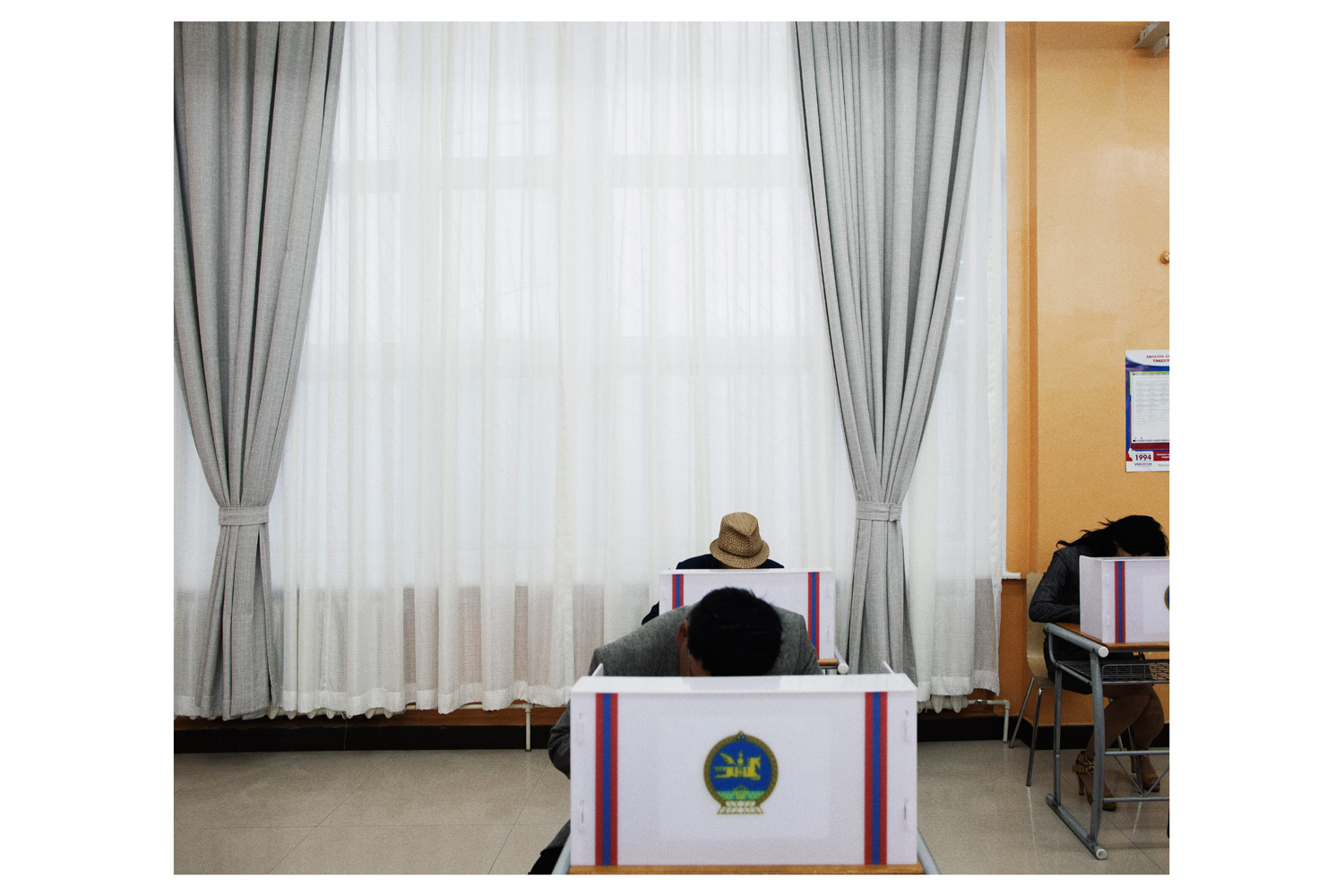 Parliamentary election voting day.                               Mongolia's citizens embraced democracy after a peaceful revolution in 1990 that displaced the long-ruling socialists.