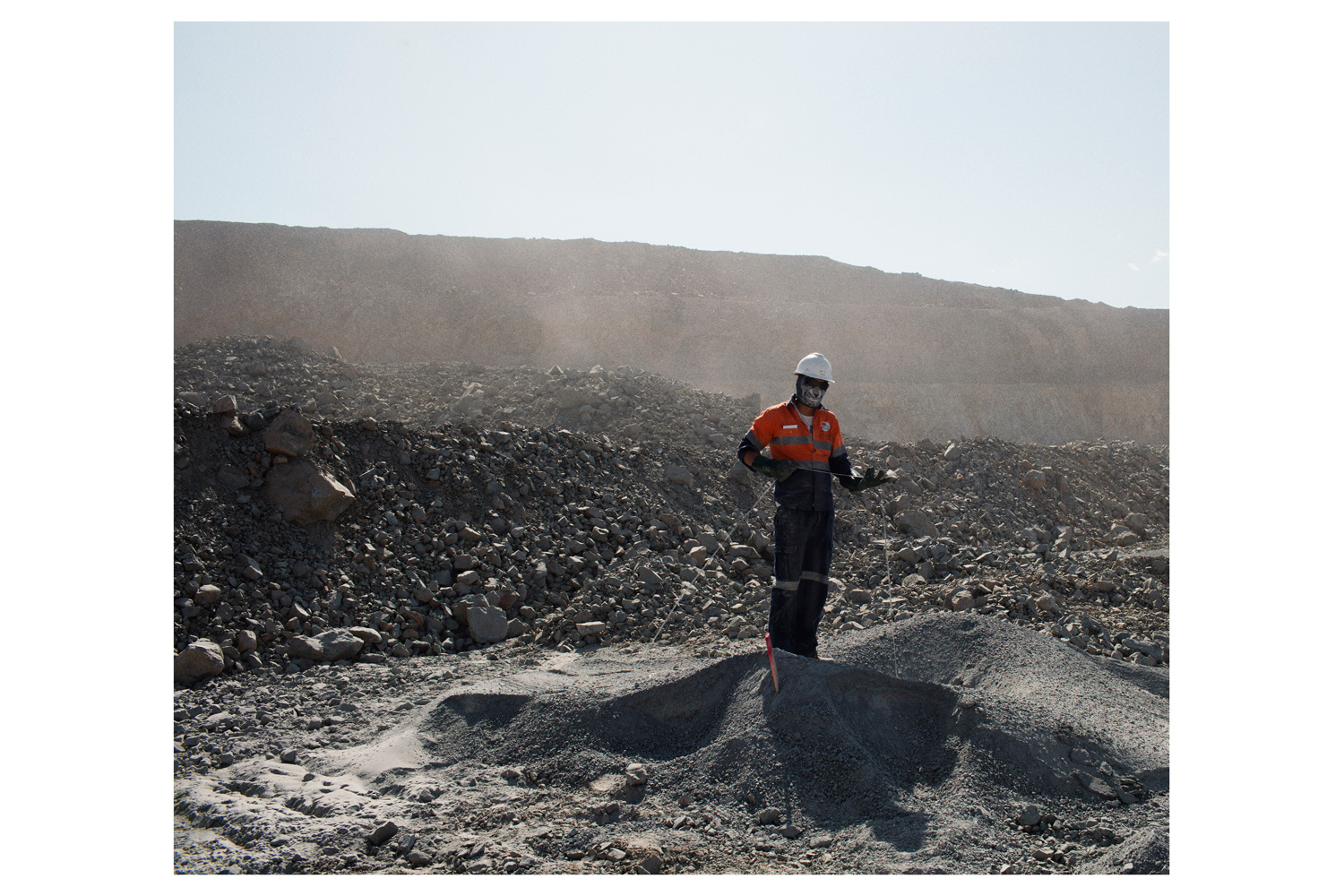 View of the open pit area at Oyu Tolgoi.