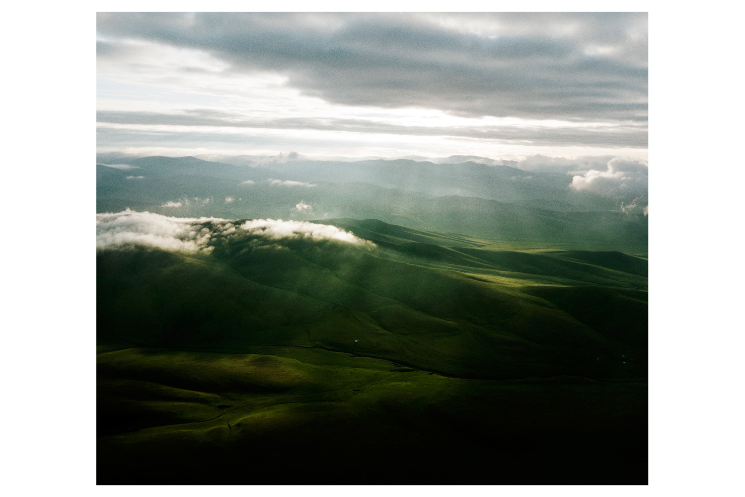 Aerial view of eastern Mongolia.