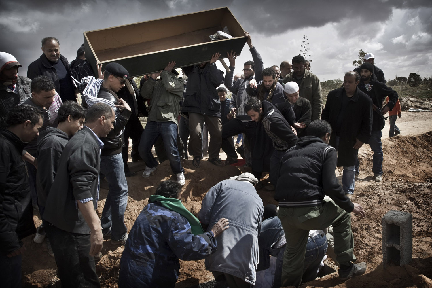 March 20, 2011. A funeral in a cemetery in Benghazi, Libya.