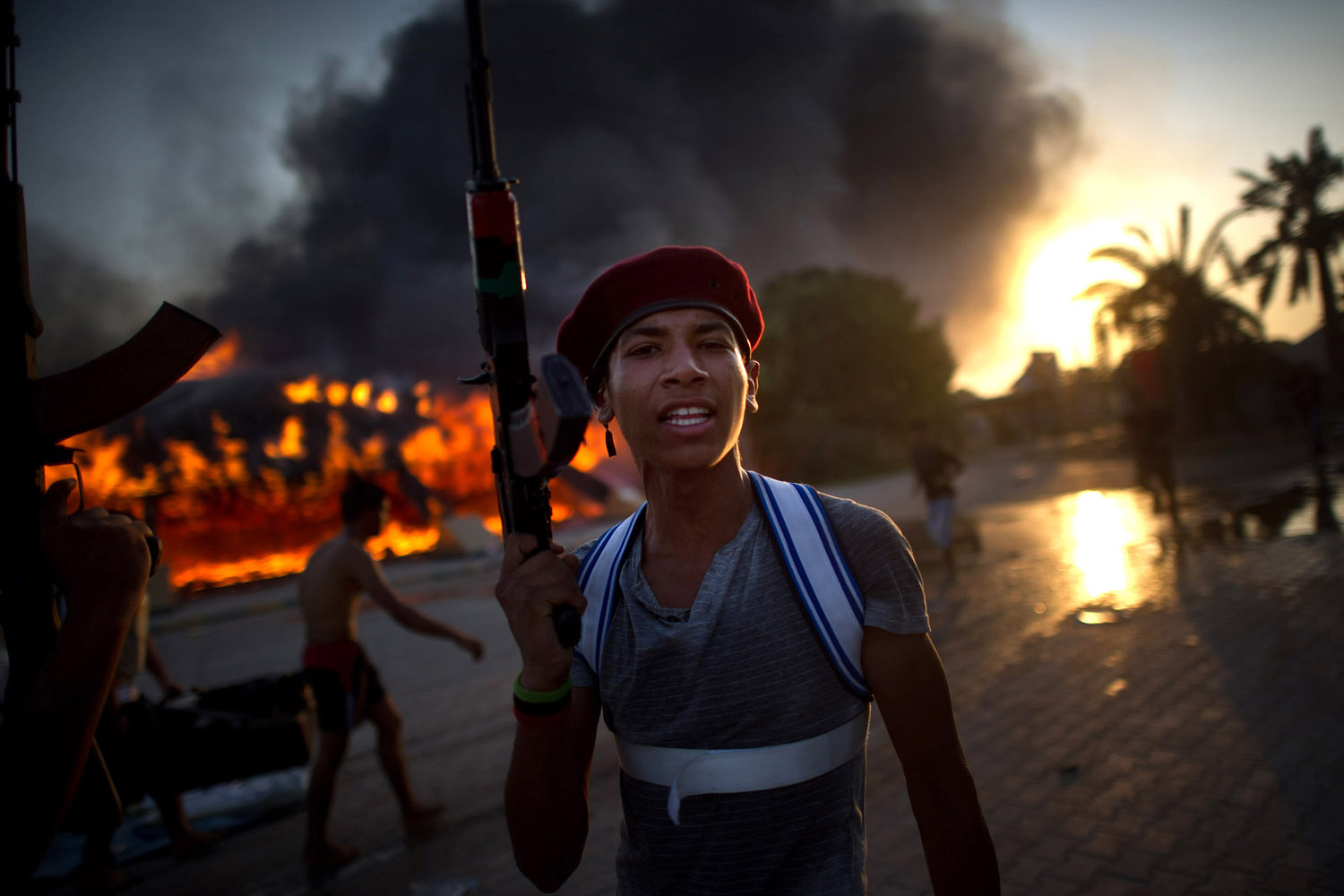 Aug. 23, 2011. The last assault against Gaddafi's compound in Tripoli.