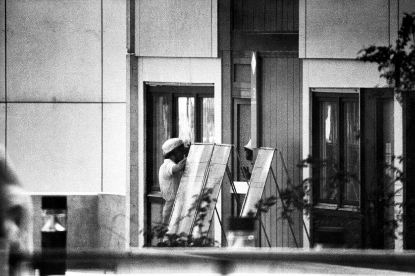 An Arabic-speaking German policewoman talks to a terrorist, Munich 1972.
