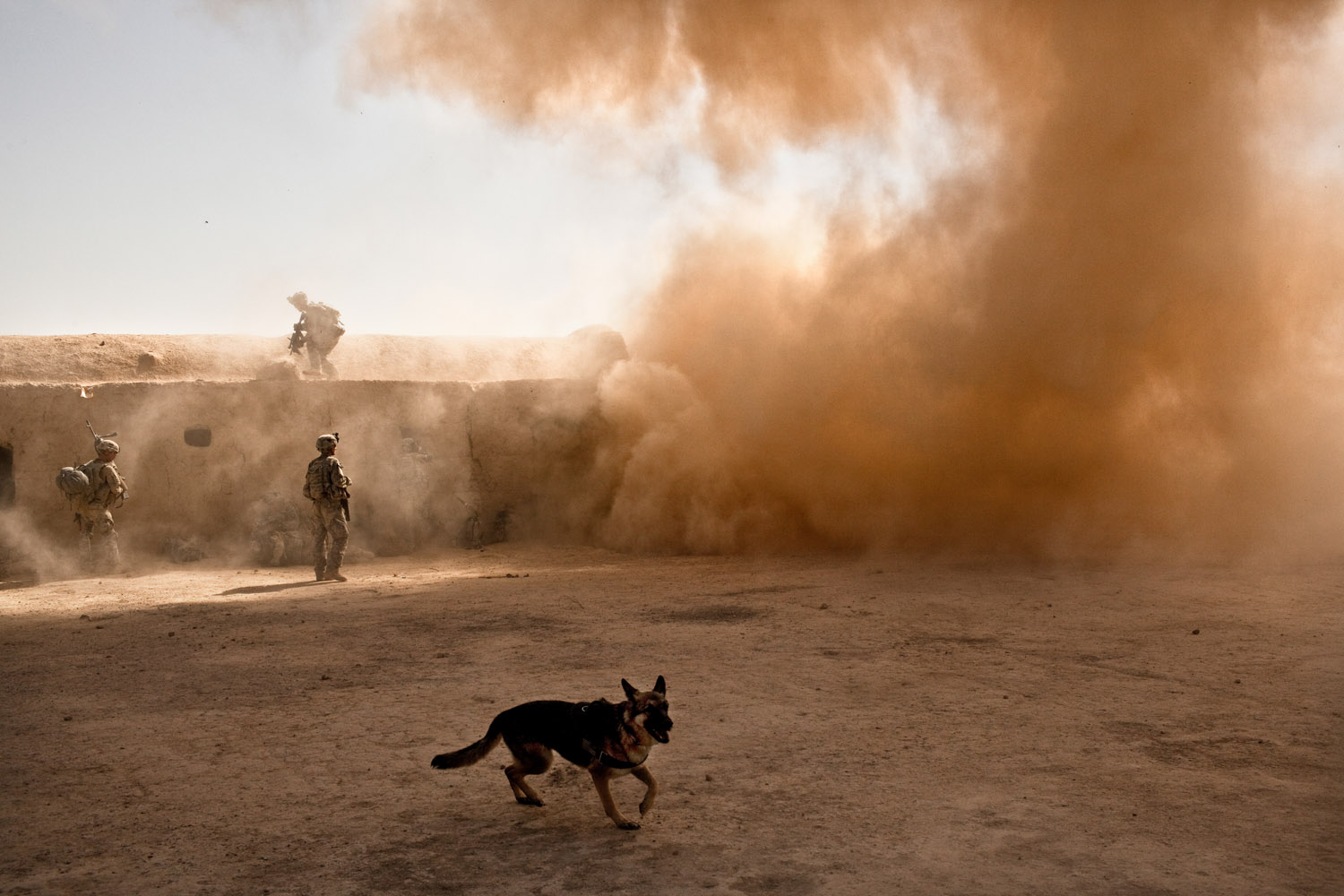 An IED detonates and injures soldiers during  Operation Clarksville  in Kandahar Province, Afghanistan. Oct. 9, 2010.