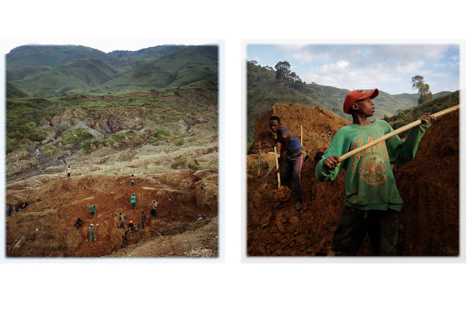Children can be found working in some mines, but in isolated areas such as Numbi, they often have few better options.