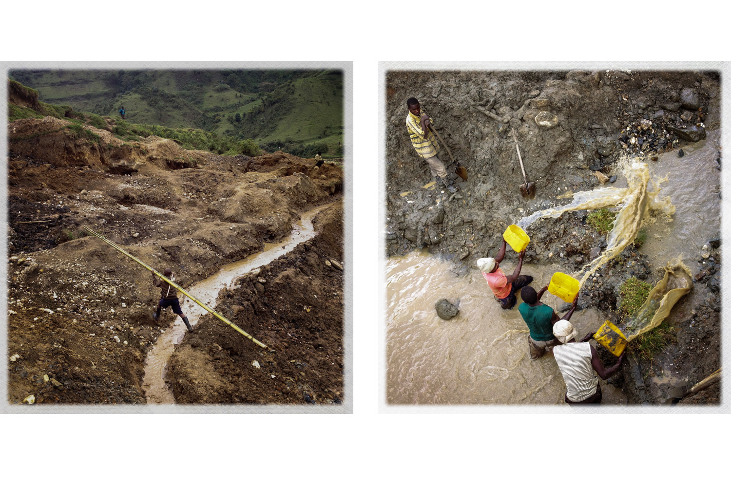 Mining in the eastern DRC is largely unregulated and results in large-scale manipulation and destruction of the landscape.