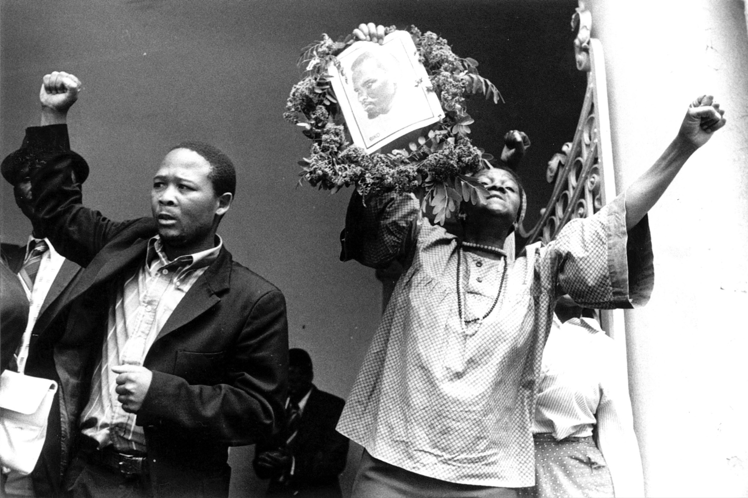 Steve Biko, the 30-year-old leader of the black consciousness movement in South Africa died while in police hands. When the inquest was held in Pretoria, the world expected that there would, at the very least, be some condemnation of the police methods which, for instance, included driving the dying detainee 750 miles naked in the back of a police truck. Instead the magistrate gave a brief statement in which he cleared the police of any responsibility. 1977.