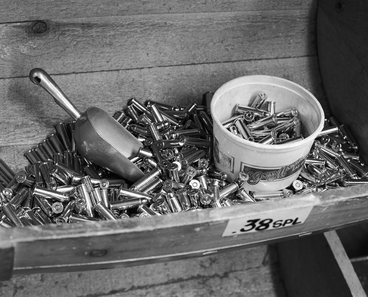 Ammunition on sale at a Las Vegas gun store.