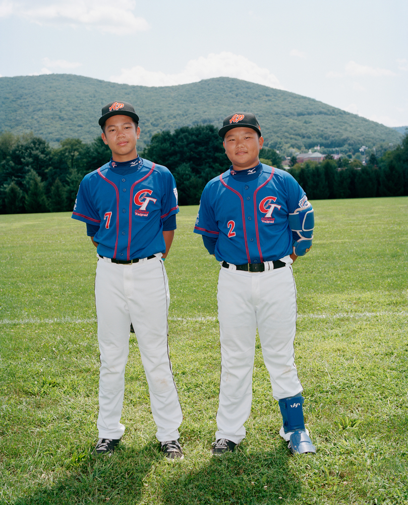 Feng Chen #22 (right), catcher/1st base, and Cheng-Feng Lee #21 (left), infield/pitcher, for Taiwan's Kuei-Shan Little League. They are the 2012 Asia-Pacific Champions.