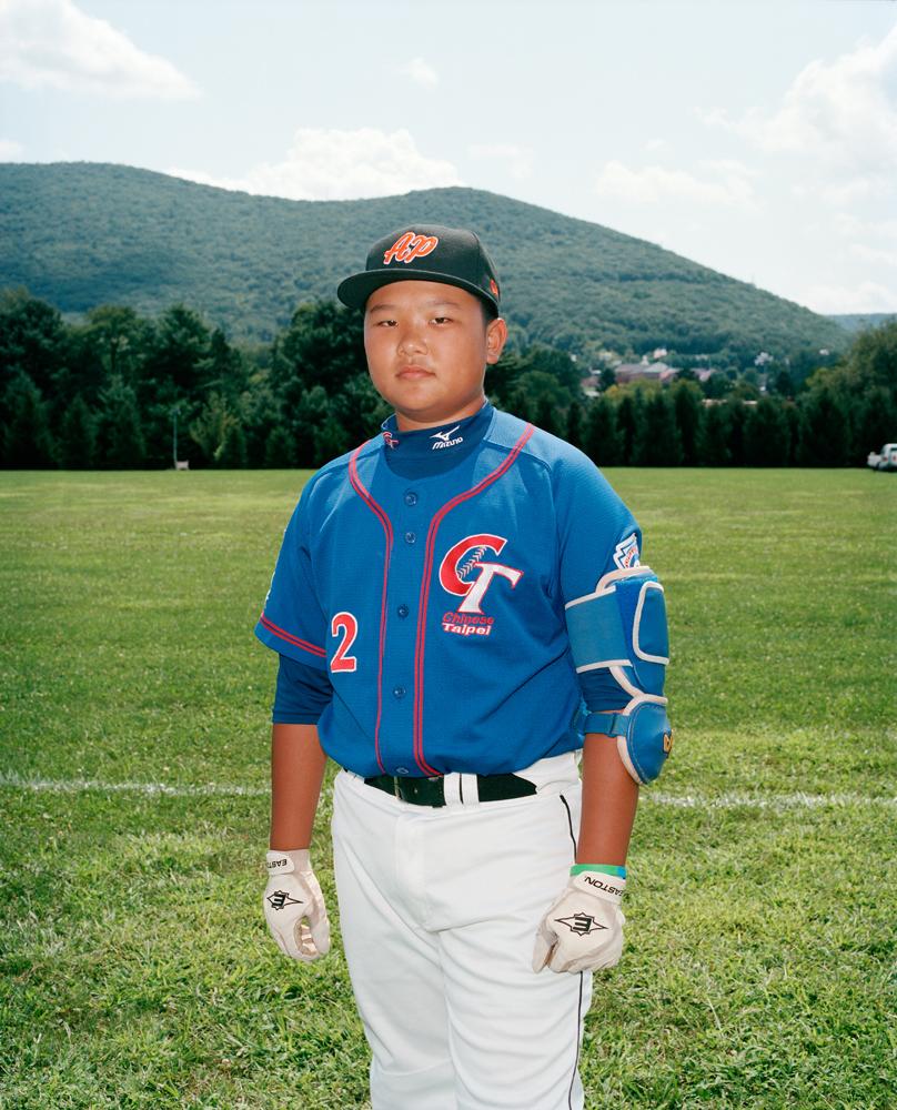 Feng Chen #22, catcher/1st base for Taiwan's Kuei-Shan Little League.