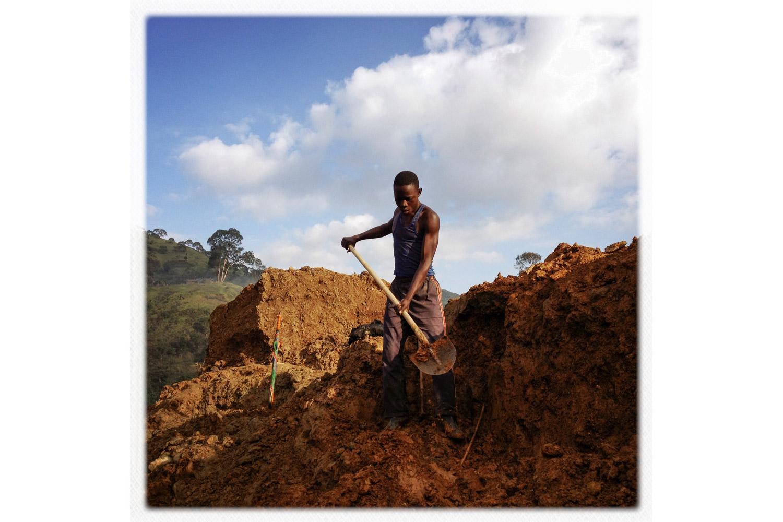 A miner in Numbi.