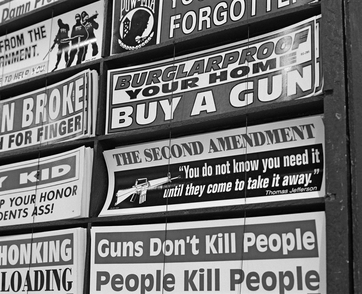 Pro-gun bumper-stickers in Las Vegas.