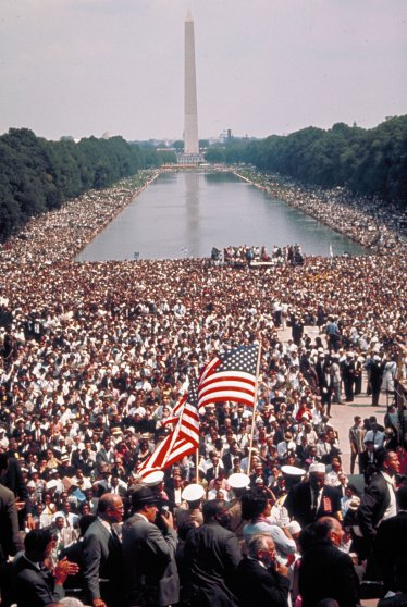 Scene from the March on Washington for Jobs and Freedom, August 28, 1963.