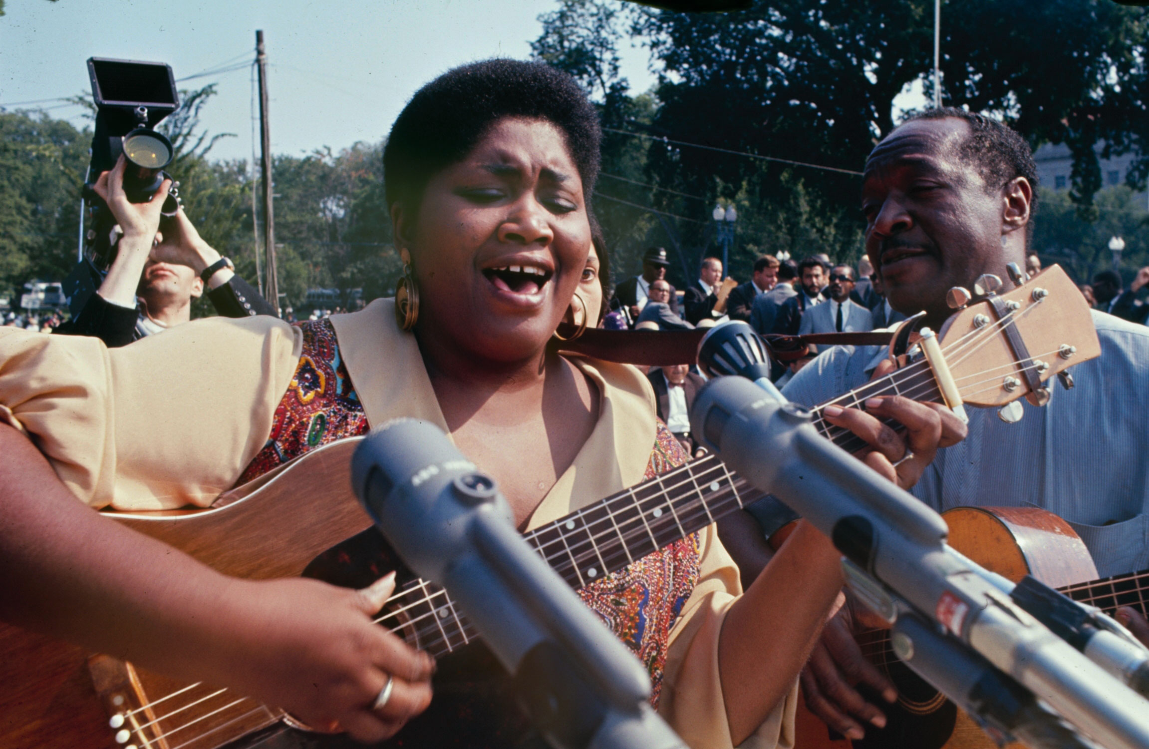 Odetta sings during the March on Washington for Jobs and Freedom, August 28, 1963.