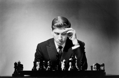Bobby Fischer in New York, 1962.