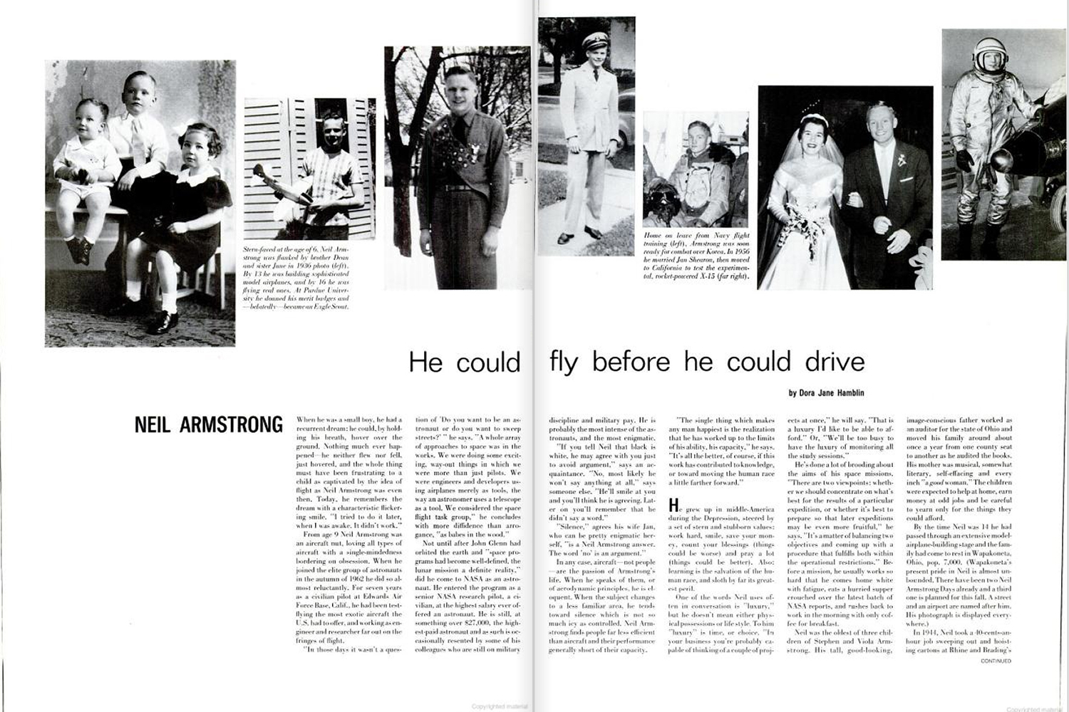 "<b>LIFE magazine Special Edition, August 11, 1969.</b> ""Neil Armstrong: He could fly before he could drive ..."""