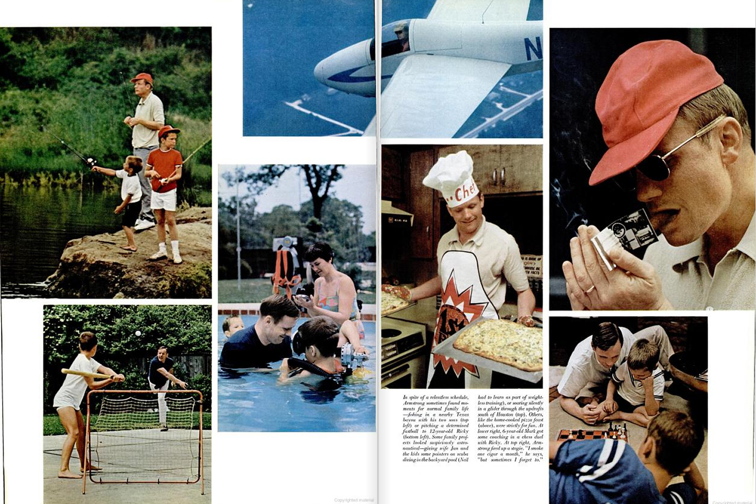 "<b>LIFE magazine Special Edition, August 11, 1969.</b> ""Despite a relentless schedule Armstrong sometimes found moments for normal family life ..."""