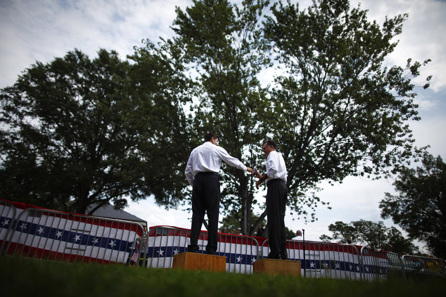 Aug. 11, 2012. Mitt Romney and Rep. Paul Ryan during a campaign event in Ashland, Va.