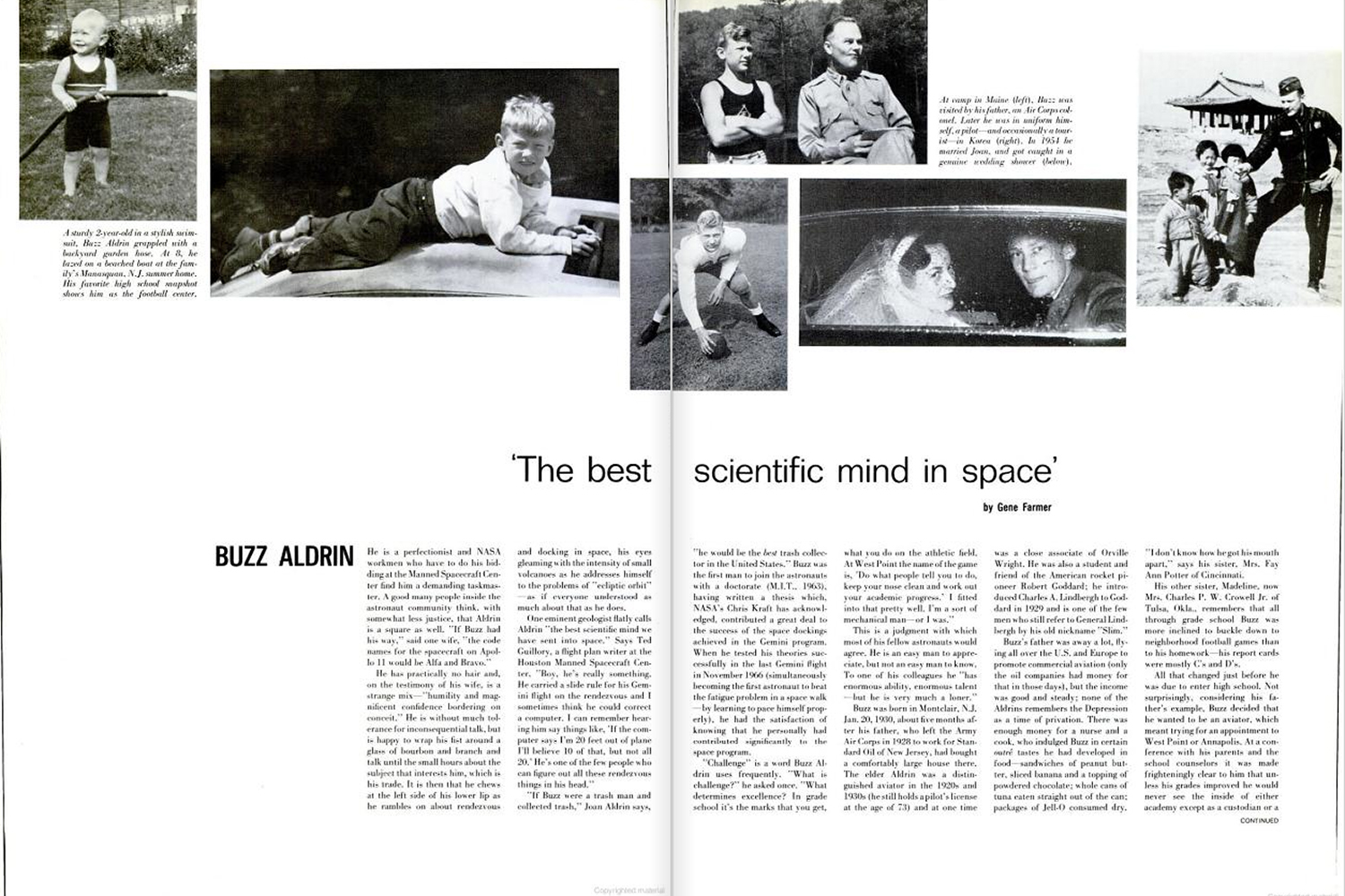 "<b>LIFE magazine Special Edition, August 11, 1969.</b> ""Edwin 'Buzz' Aldrin: 'The best scientific mind in space' ..."""