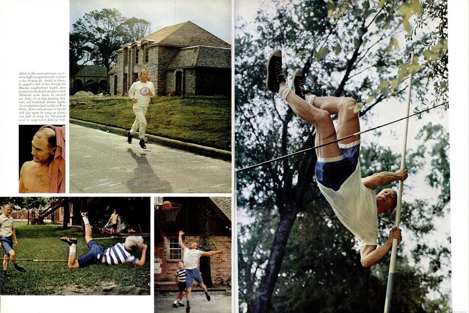 "<b>LIFE magazine Special Edition, August 11, 1969.</b> ""Aldrin is like most astronauts, an exercise buff who spends nearly an hour a day keeping fit ..."""