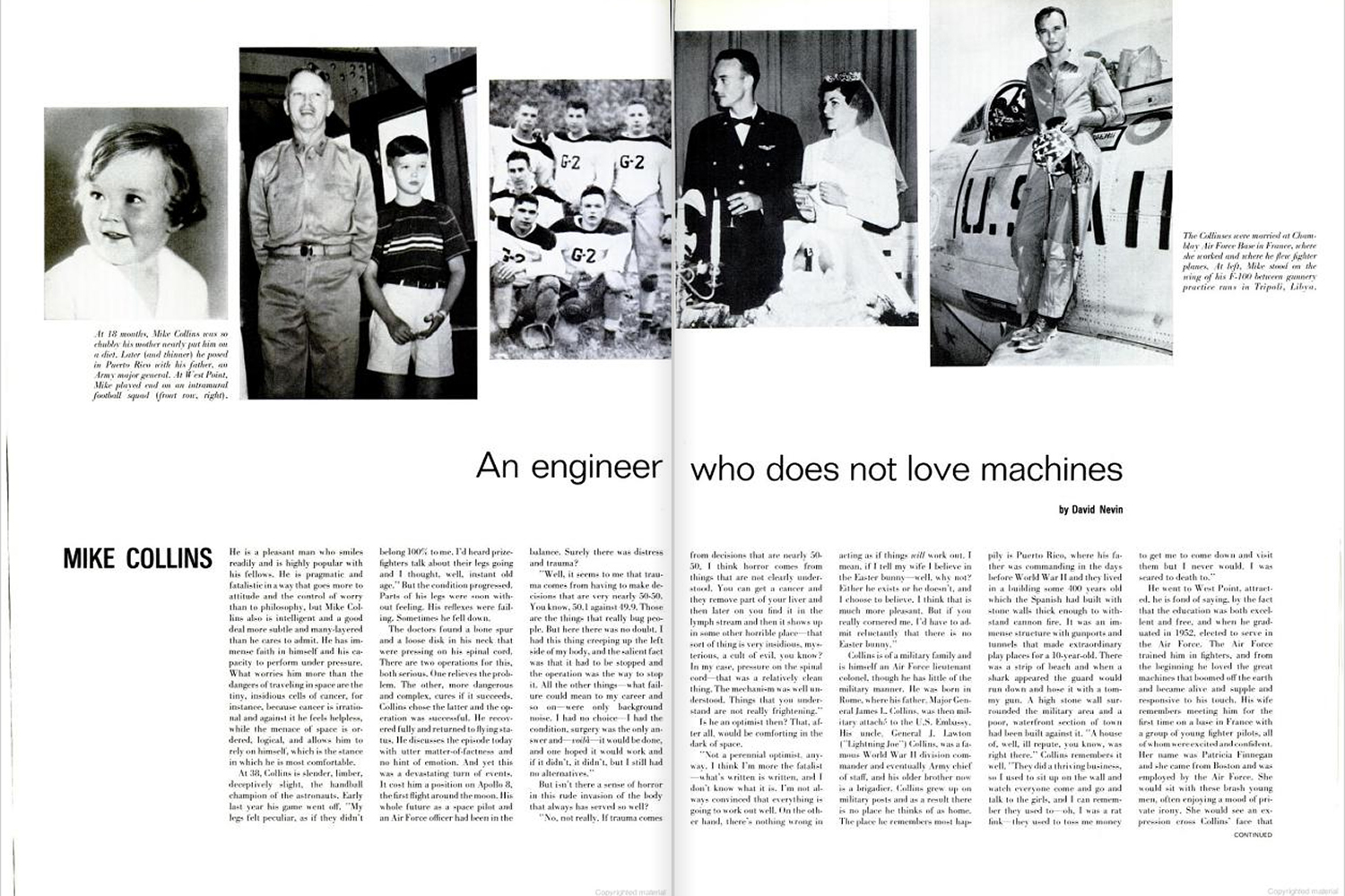 "<b>LIFE magazine Special Edition, August 11, 1969.</b> ""Mike Collins: An engineer who does not love machines ..."""