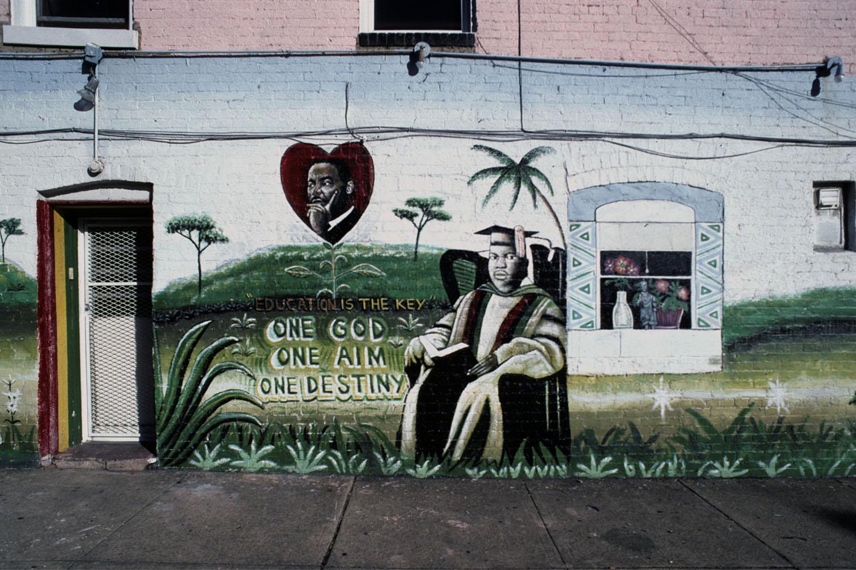 One God, One Aim, One DestinyWarwick Avenue by North Avenue, Baltimore 2001