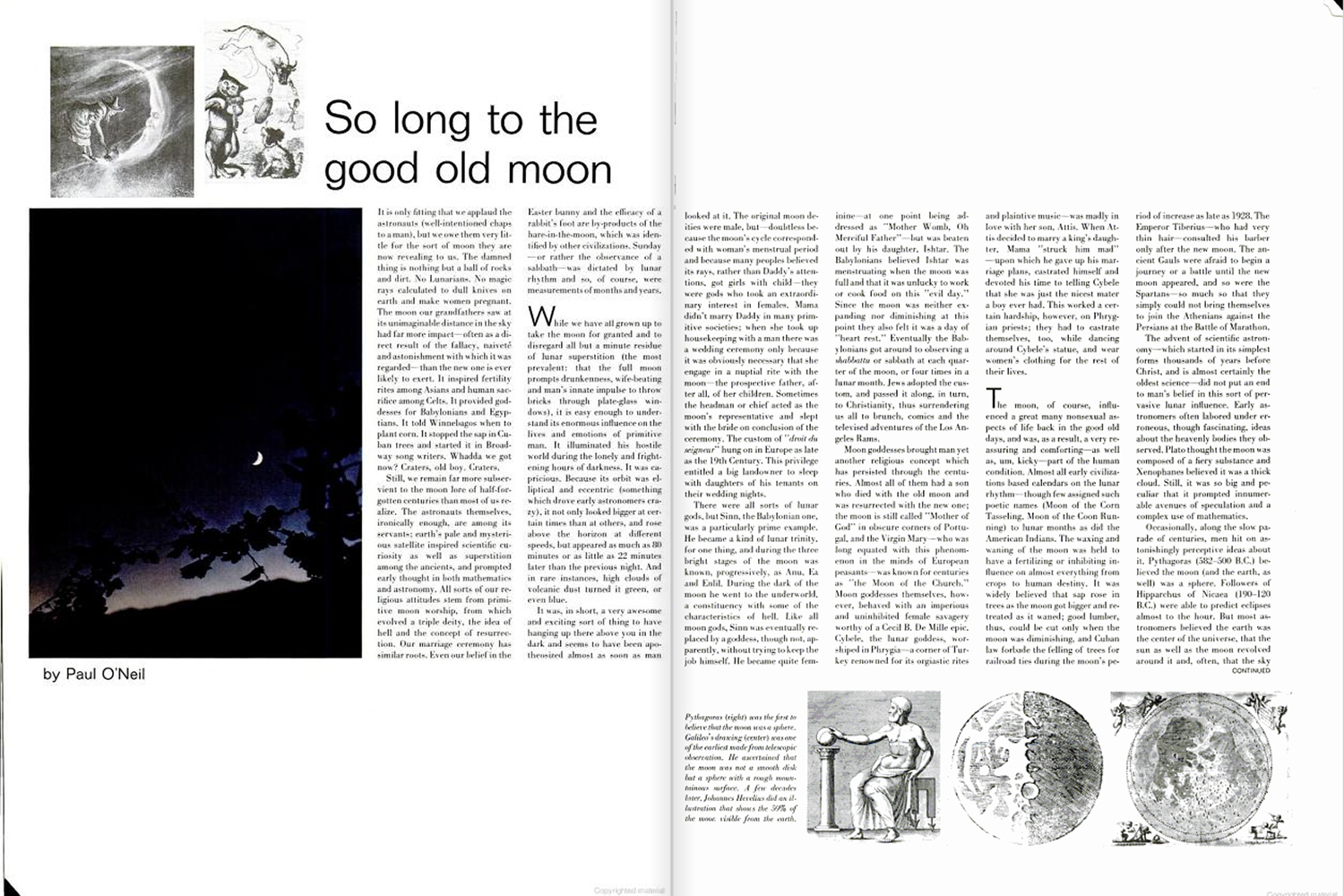 "<b>Life magazine Special Edition, August 11, 1969.</b> ""So long to the good old moon ..."""