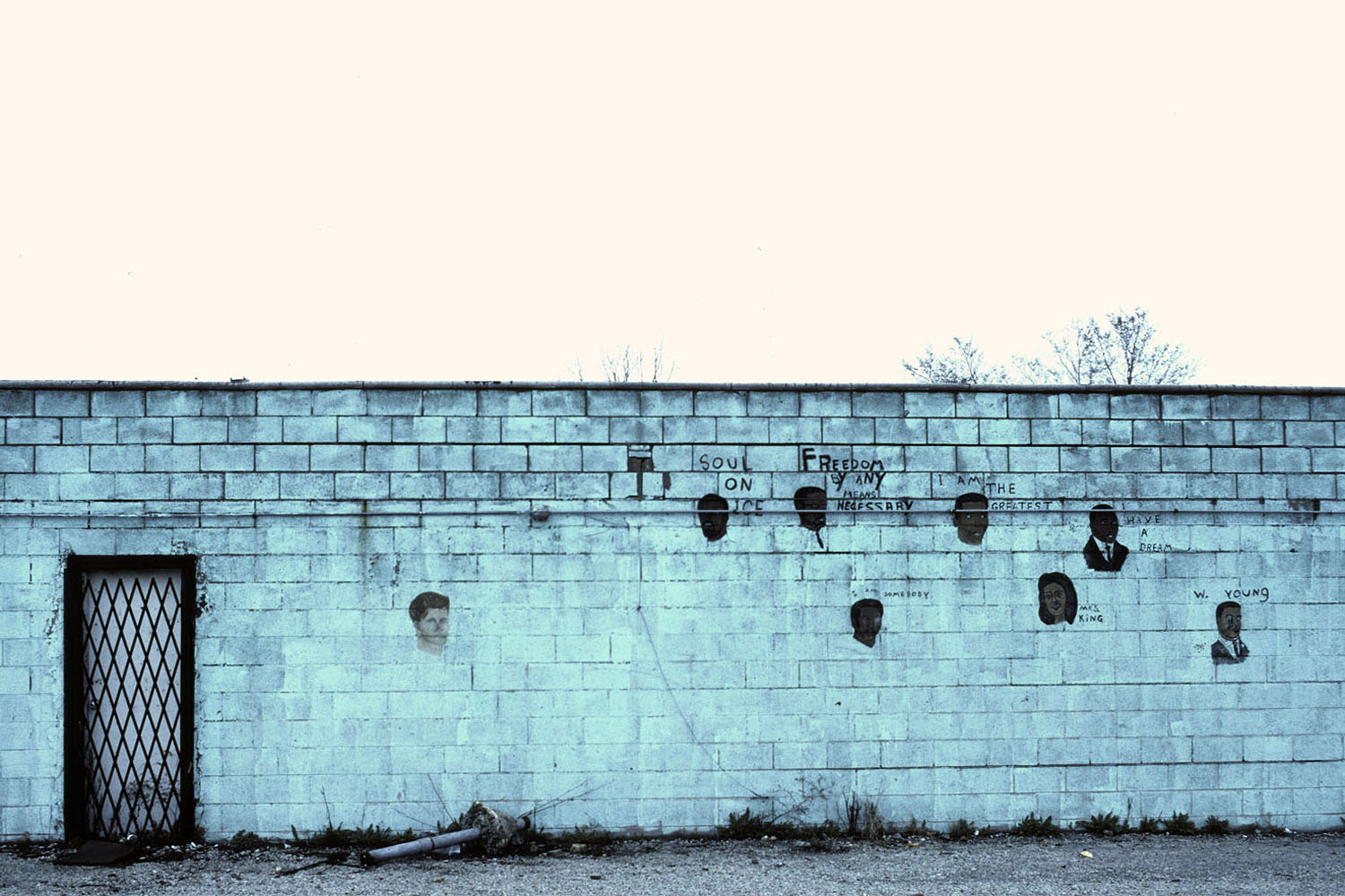 Memorial Wall along Route 30, Ford Heights, Ill.1980