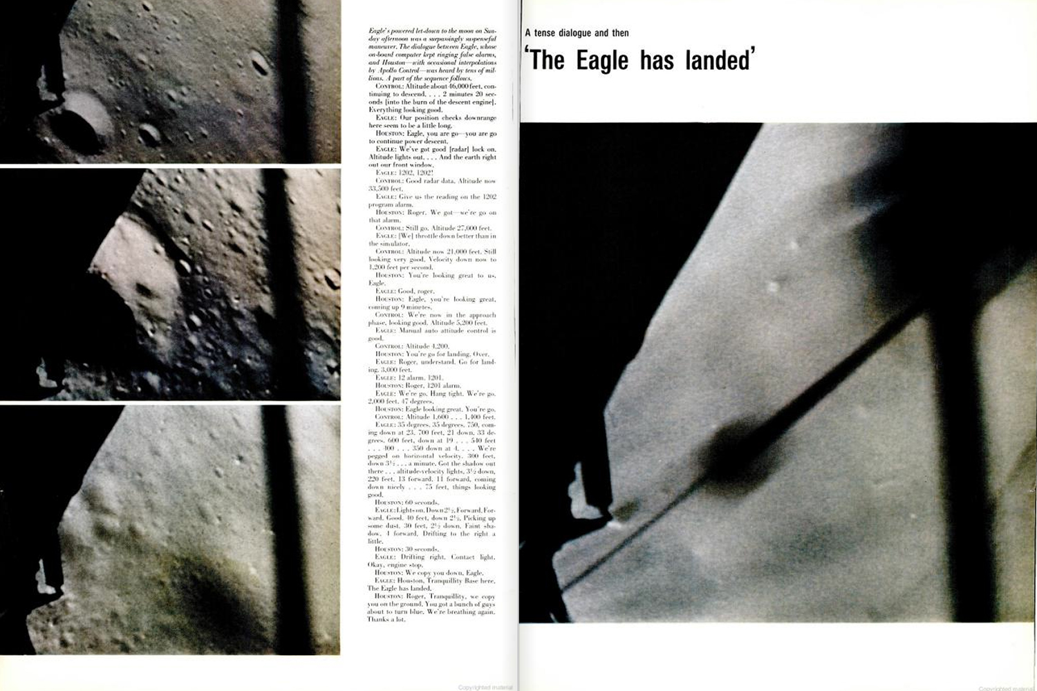"<b>LIFE magazine Special Edition, August 11, 1969.</b> ""The <em>Eagle</em> has landed."""