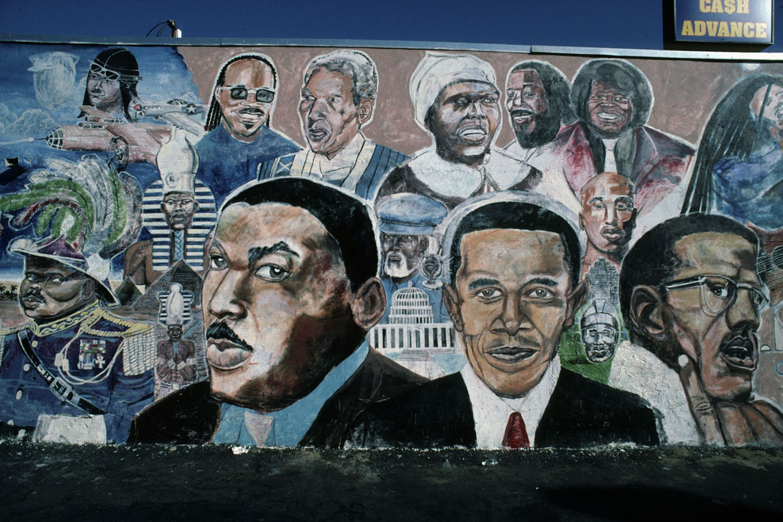 Mural by Shyaan KhufuMaster Burger, 4423 South Western Avenue, Los Angeles 2010