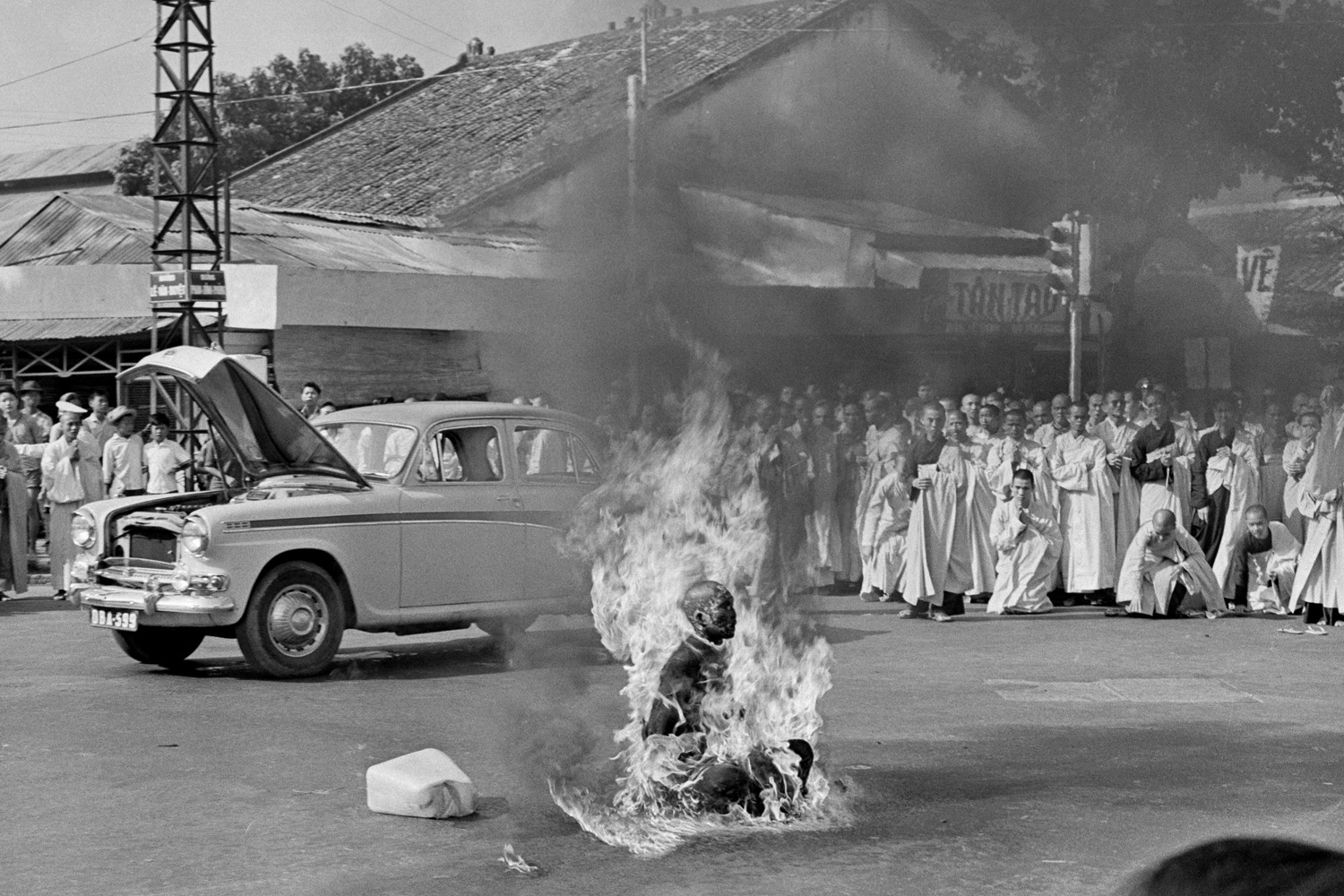 It was every bit as bad as I could have expected,  said Browne of watching the monk burn.