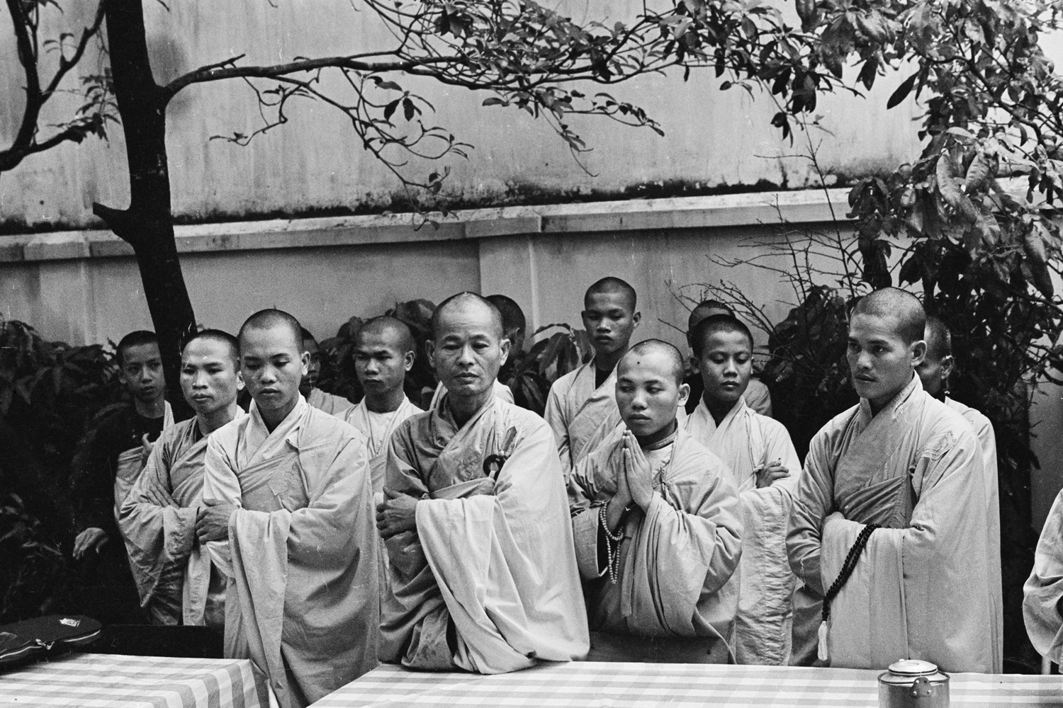 All pictures taken on June 11, 1963                               Buddhist leaders warned Browne that a major protest would take place in Saigon. He arrived at the Buddhist pagoda where the protest was being staged to find monks and nuns already chanting.