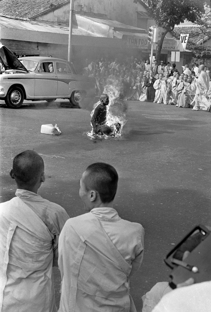 Other monks and nuns looked on as Quang Duc burned to death.
