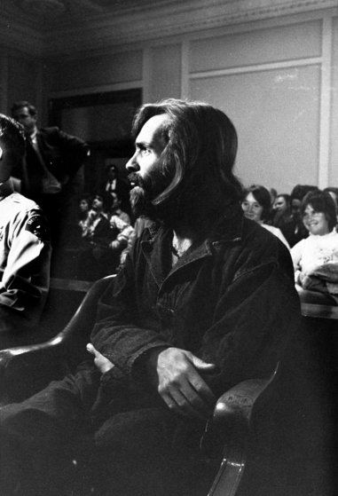 Charles Manson in custody, 1969.