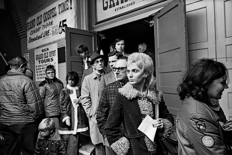 Leaving the Opry, Ryman Auditorium, Nashville, 1972