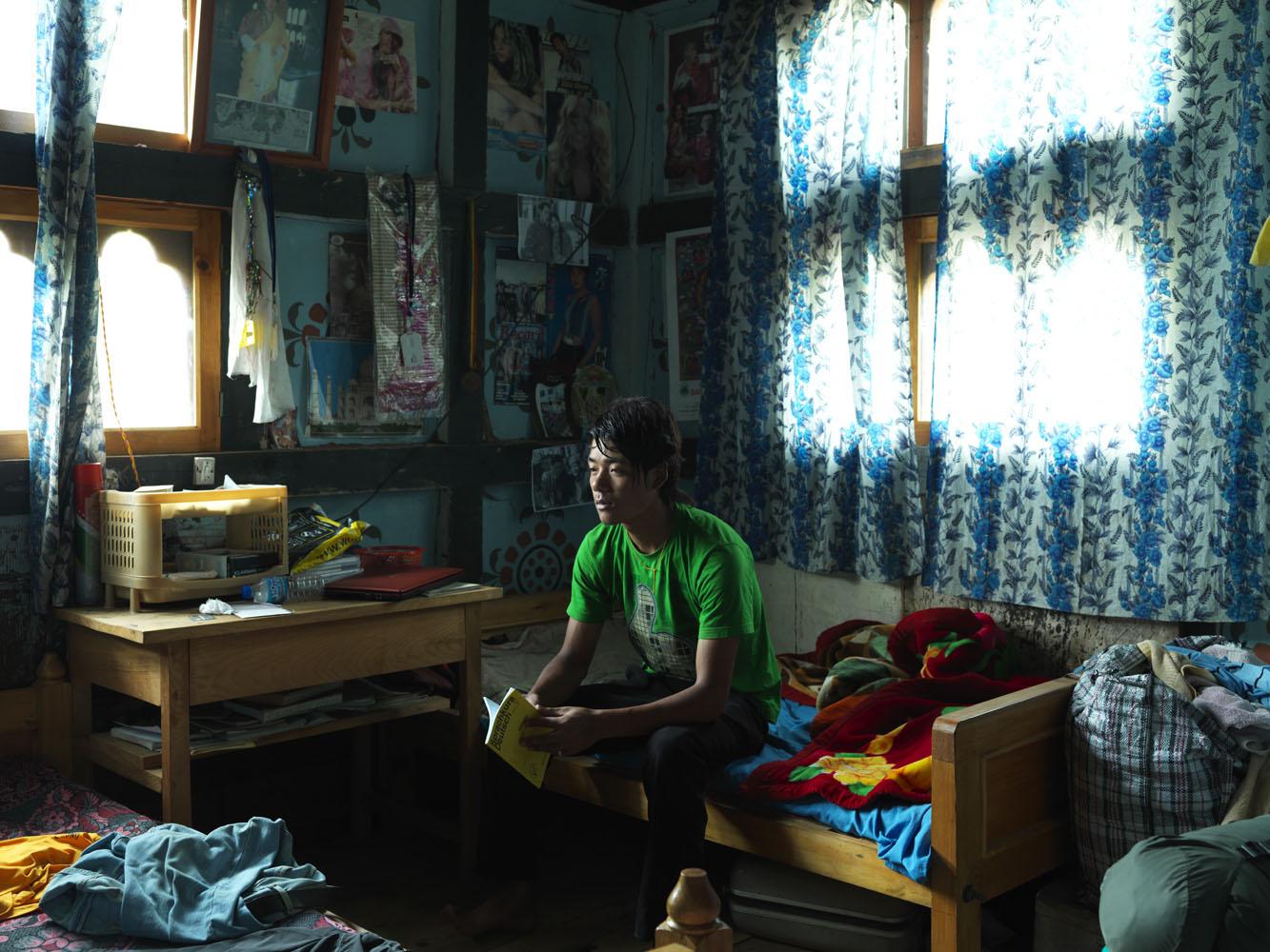 Sonam Wangchuck, a student, in Paro.