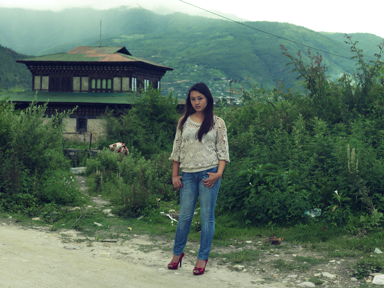 Many young Bhutanese, like Tshering, in Paro, now prefer modern clothing to the traditional robes.