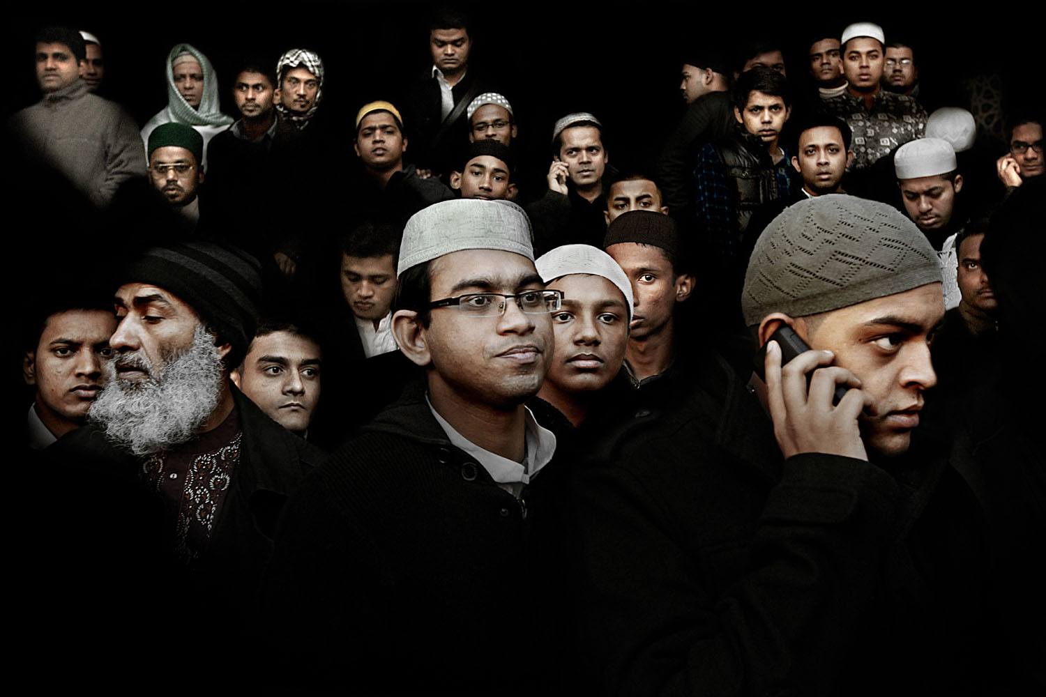 Community members leave the East London Mosque after Eid prayers in London. Combined with the adjoining London Muslim Centre, it is one of the largest mosques in the United Kingdom. Nov. 16, 2010.