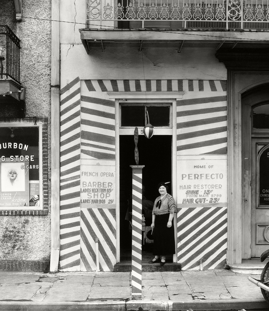Sidewalk And Shopfront, New Orleans, 1935