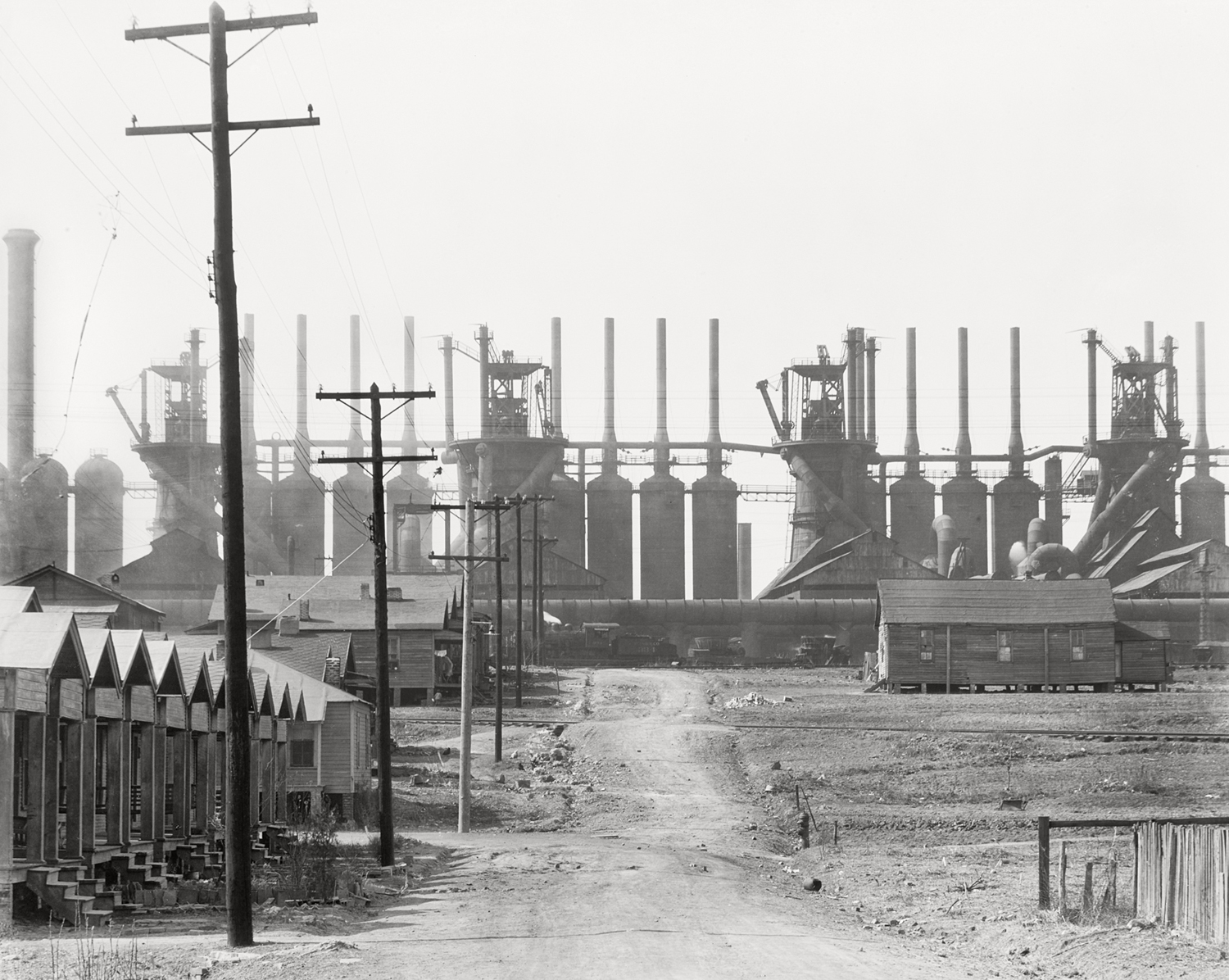 Birmingham Steel Mill And Workers' House, 1936