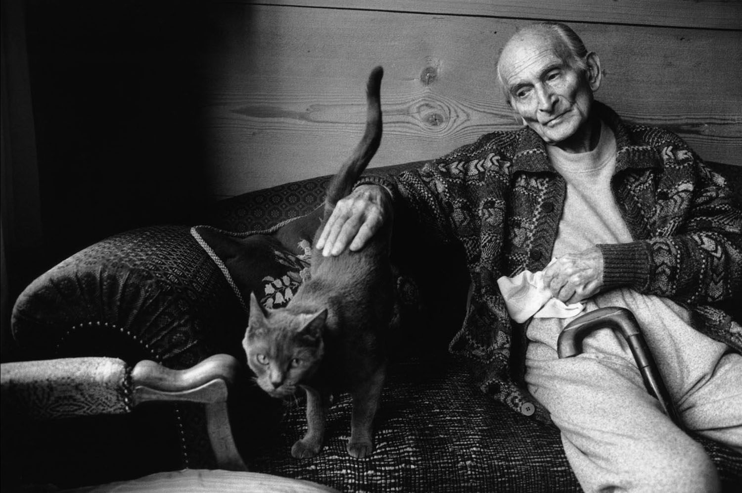 French painter Balthus at home, 1999.