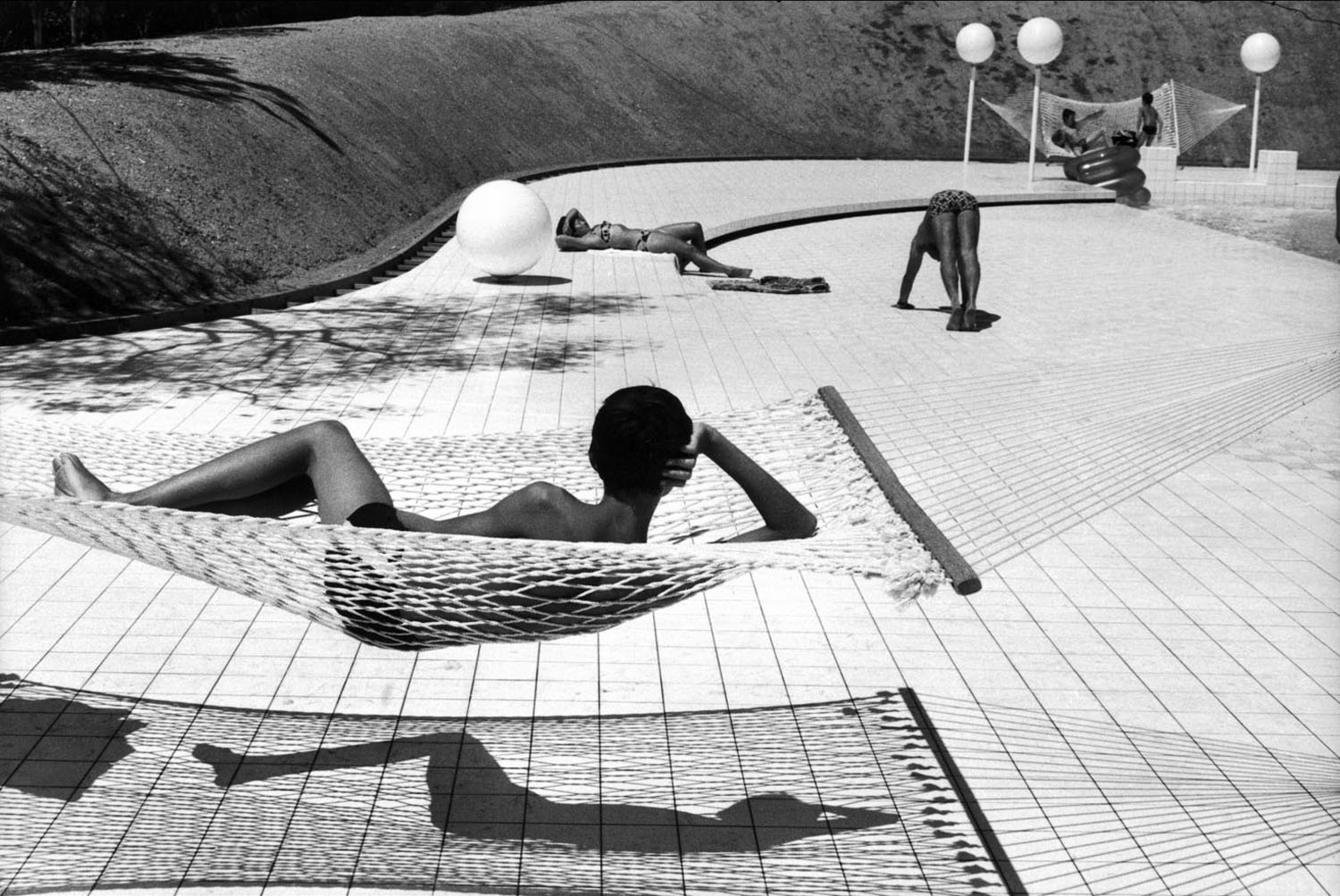 Pool designed by Alain Capeilleres in Le Brusc, France, 1976.