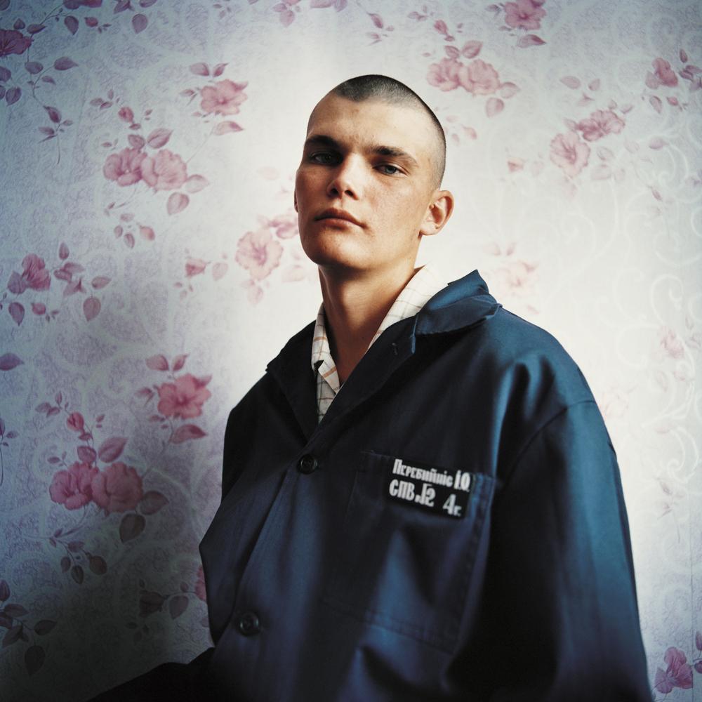 Vania, sentenced for sexual violence against women. Juvenile prison for boys, Ukraine, 2010.