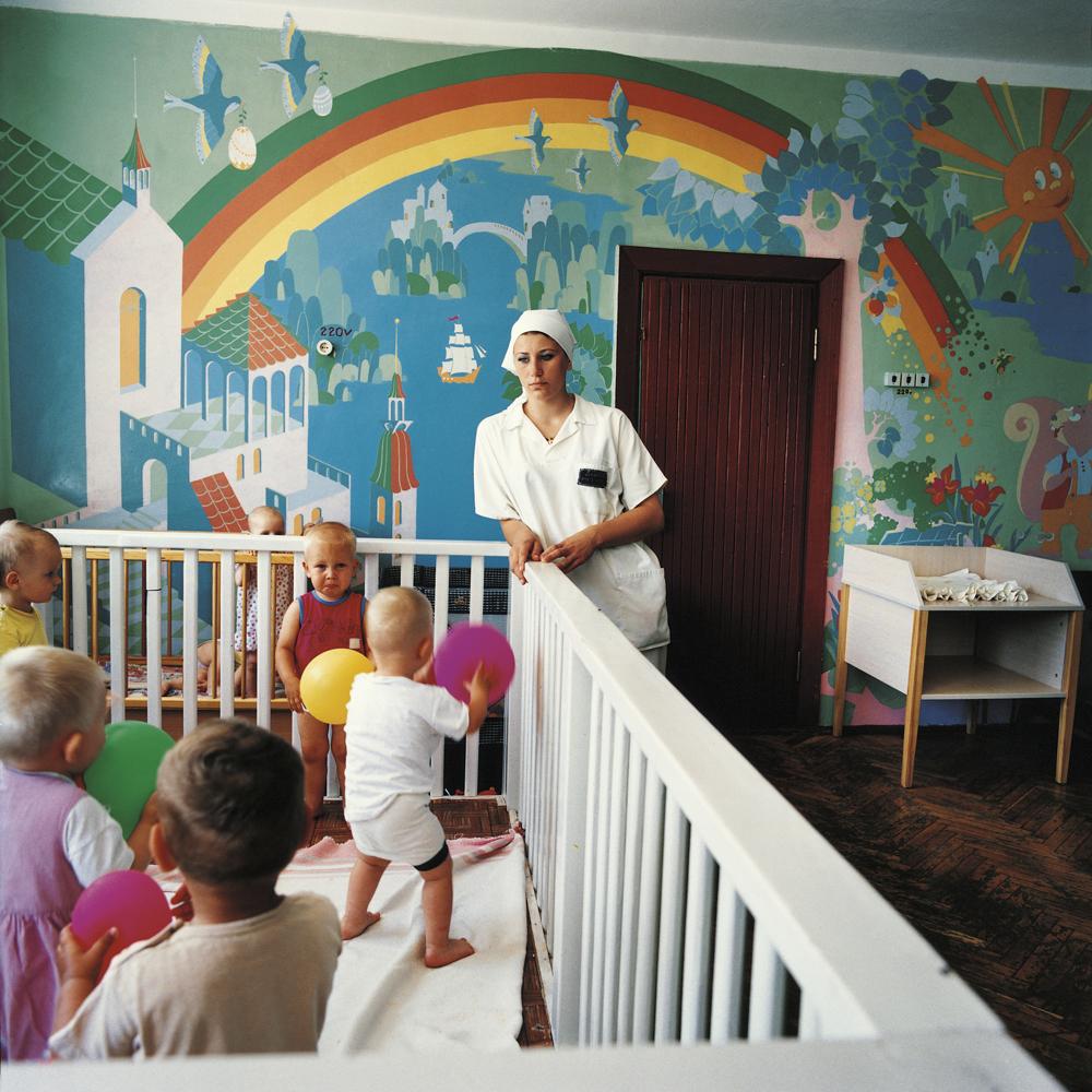 Vika, sentenced for murder.Prison for women with children,Ukraine, 2010.