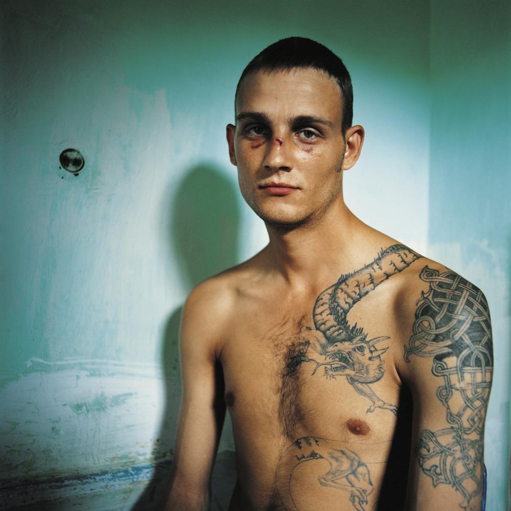 Vania, sentenced for murder.Men's prison, Ukraine, 2010.