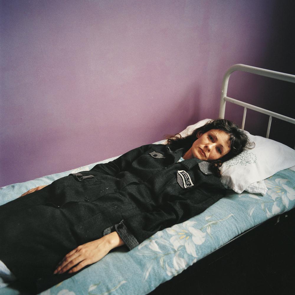 Tanya, sentenced for theft.Women's prison, Ukraine, 2009.