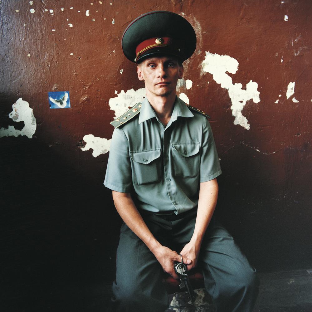 Victor, prison guard. Men's prison,Ukraine, 2008.