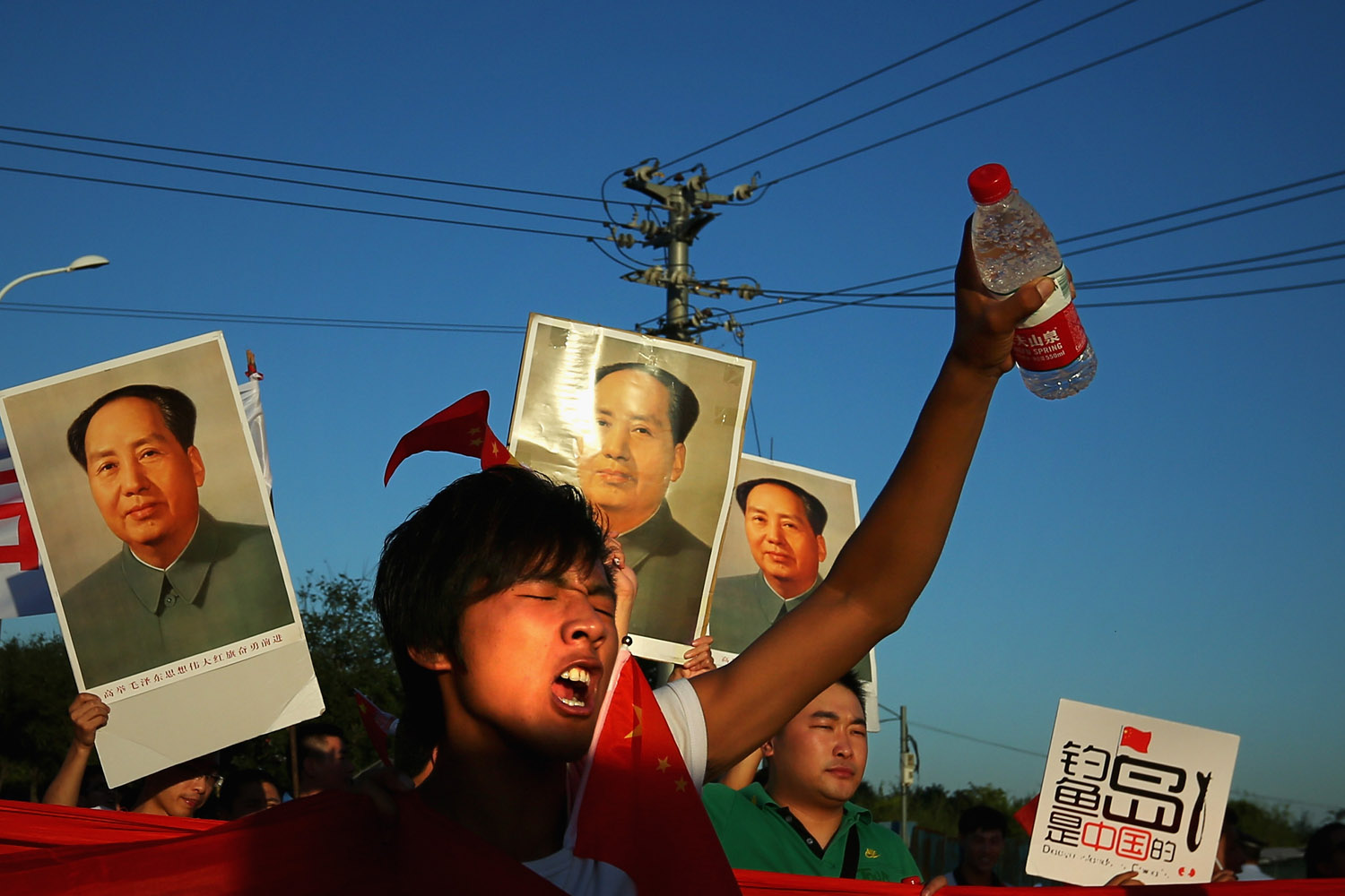 Sept. 18, 2012. Chinese protestors stage an anti-Japan rally outside the Japanese Embassy in Beijing.