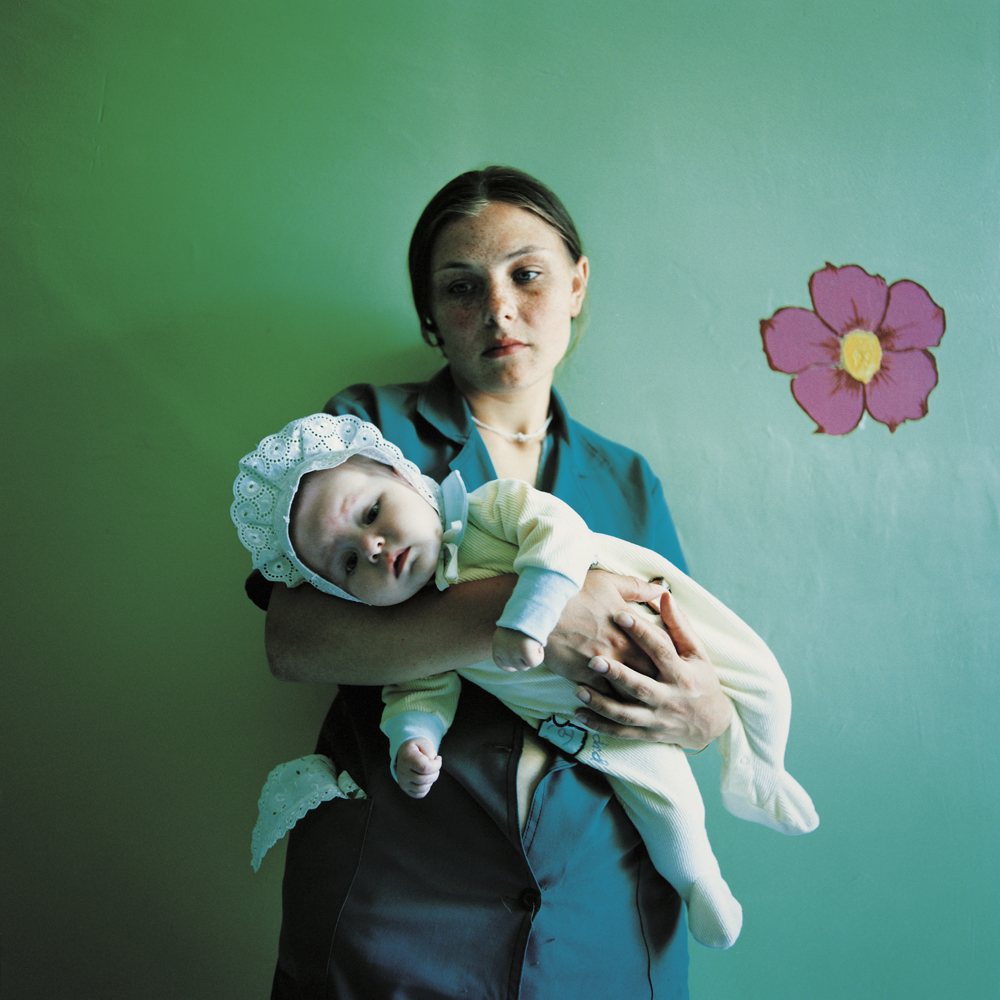 Diana, sentenced for theft, and Yulia.Prison for women with children,Ukraine, 2010.