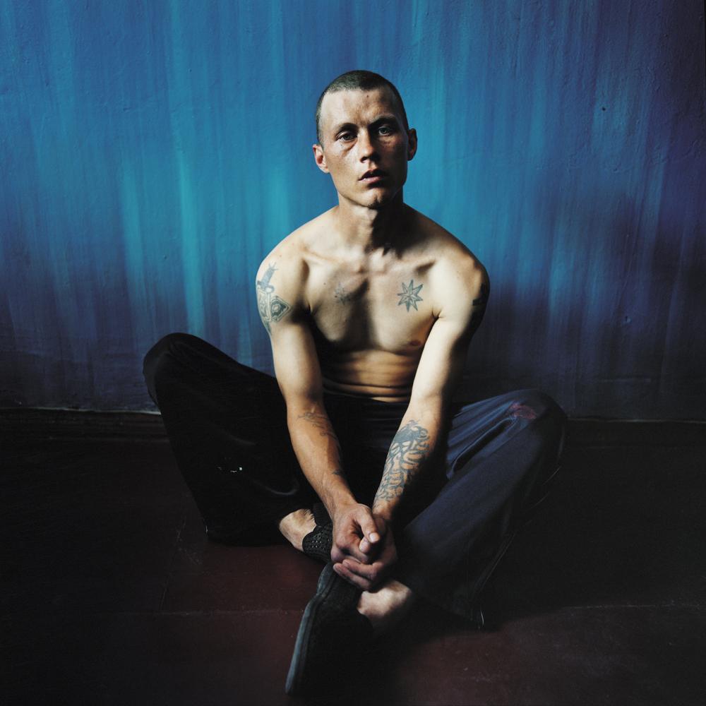 Boris, sentenced for theft.Men's prison, Ukraine, 2008.